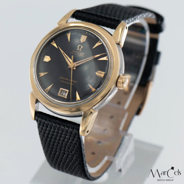 0749_vintage_watch_omega_seamaster_calender_honeycomd_dial_17